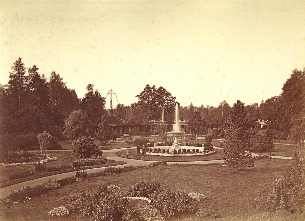 Private Garden in Catherine Park, 1870-1884 photograph by Ivan Bianki