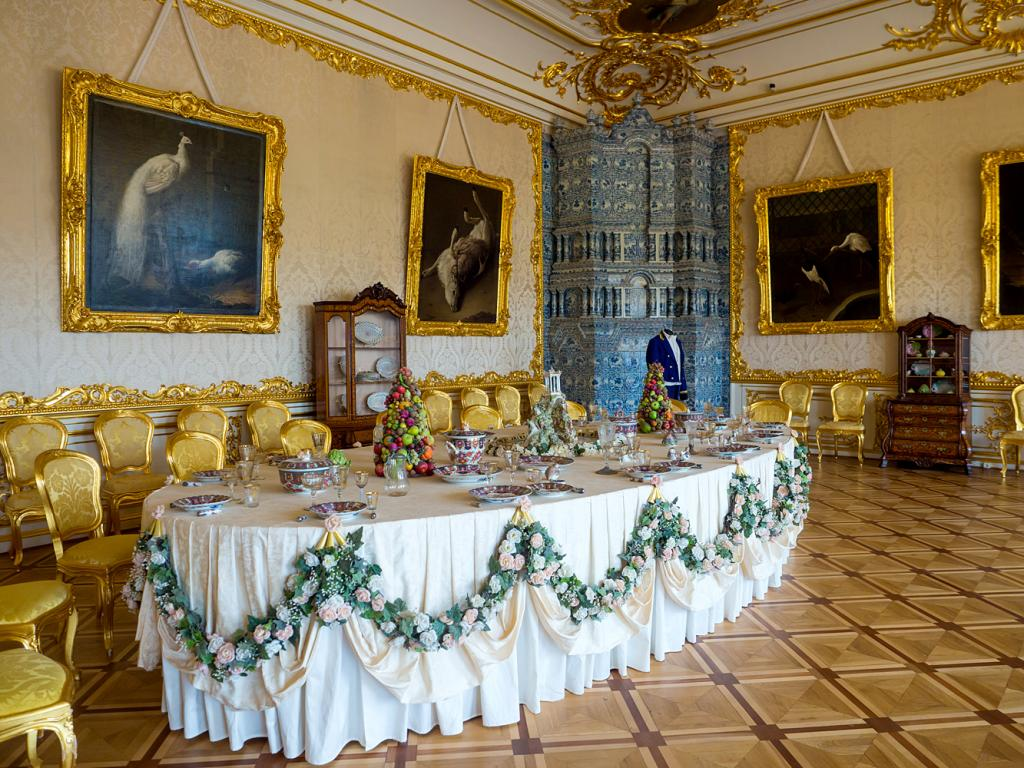 White State Dining Room of Catherine Palace