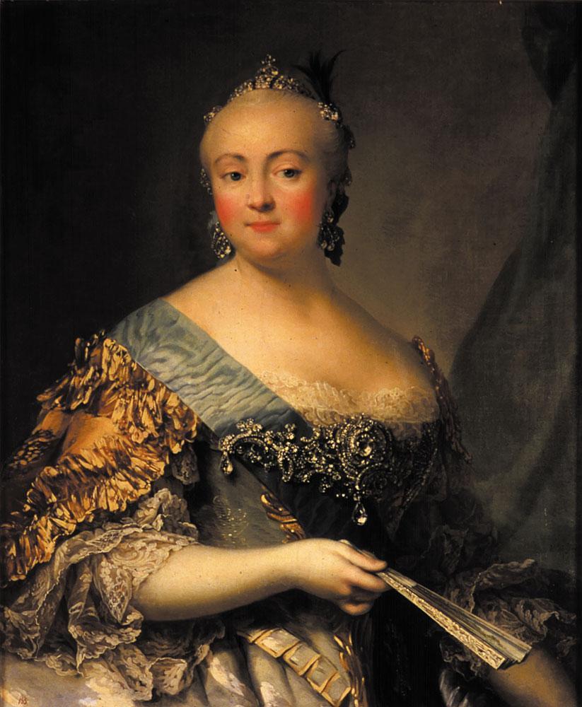Virgilius Heriksen, Portrait of Elisabeth of Russia, 1757, Tsarskoe Selo, St. Petersburg, Russia.