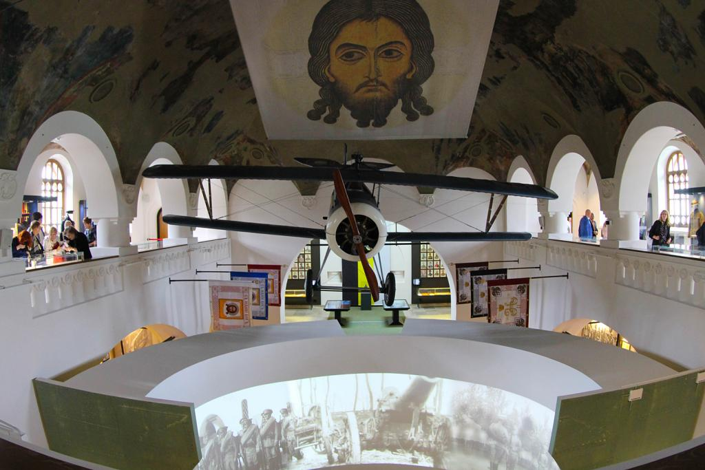 Main Hall with Russian 2010 reconstruction of Nieuport 17 airplane